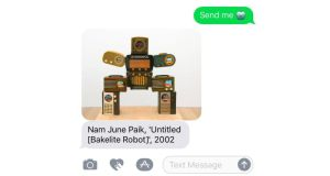 Genius idea: San Francisco Museum of Modern Art will text you a relevant piece from its collection, such as Nam June Paik's Bakelite robot, in response to a text message