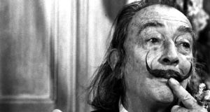 Salvador Dali in a March 6th, 1975 photo taken in New York. The DNA recovered from the remains will be compared with samples from Pilar Abel, who claims to be the result of a liaison her mother had with Dalí in 1955. Photograph: AP