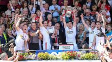 "Tyrone celebrate their Ulster title win. ""You might win one game, but you won't beat a Kerry or a Dublin or a Tyrone back-to-back. I've no doubt about that,"" says O'Brien. Photograph: Philip Magowan/Presseye/Inpho"