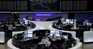 German share price index, DAX board, at the stock exchange in Frankfurt, July 21st, 2017. Photograph: Reuters