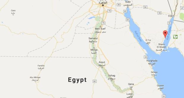 Irish Man Dies While Diving Off Coast Of Egypt - Map of egypt dahab