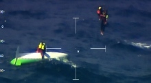 Video captures rescue of rowers who capsized off Cork coast