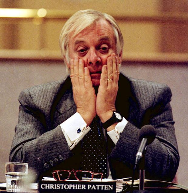 Chris Patten as chairman of the Independent Commission on Policing in Northern Ireland, 1998. Photograph: Pacemaker