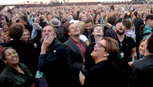 Taoiseach Leo Varadkar at the U2 performance of The Joshua Tree in Croke Park Dublin. Photographs: Eric Luke