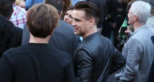 Actor Colin Farrell at the U2 concert at Croke Park in Dublin. Photgraph: Brian Lawless/PA