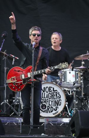 Support act Noel Gallagher's High Flying Birds performing on stage at Croke Park in Dublin. Photograph: Brian Lawless/PA Wire