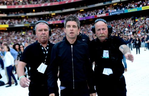 Noel Gallagher after performing at Croke Park. Photograph: Cyril Byrne/The Irish Times