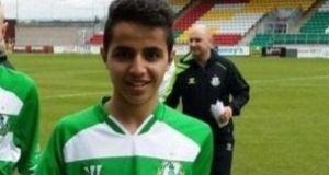 Mohammed Alrawehneh, pictured as a youth player with  Shamrock Rovers Football Club. Photograph: Shamrock Rovers FC/Twitter