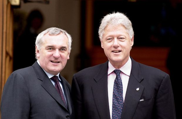 Former US president Bill Clinton and Bertie Ahern in 2002. Photograph: John Cogill/AP Photo