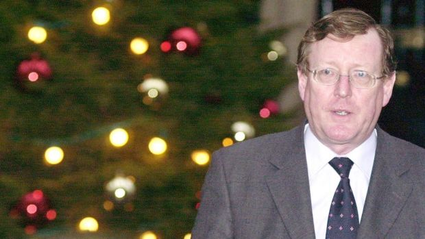 Northern Ireland's first minister David Trimble in December, 2001. Photograph: Johnny Green