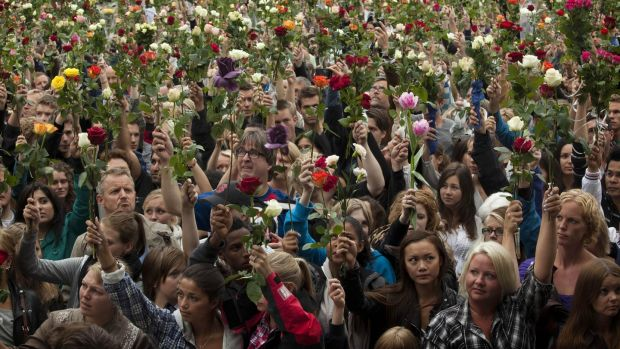One in four Norwegians knew someone who was injured or killed in the July 2011 attack. Photograph: Emilio Morenatti/AP