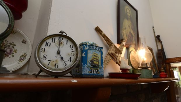 The mantlepiece in the birthplace museam of Francis Ledwidge in Slane, Co Meath .Photograph: Cyril Byrne