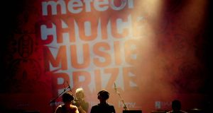 Meteor branding at the company's music awards in 2012. Eir, the brand's owner, have announced that it will be stood down from September. Photograph: Aidan Crawley
