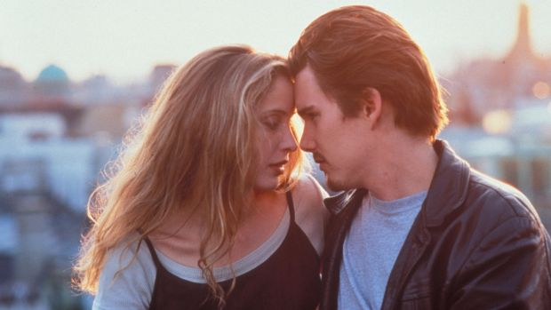 Before Sunrise: Julie Delpy and Ethan Hawke in Richard Linklater's 1995 film