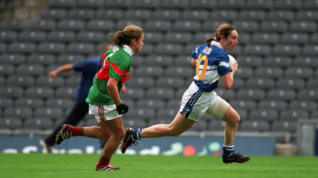 Sue Ramsbottom led Laois to victory in the 2001 All-Ireland final. Photograph: Patrick Bolger/Inpho