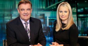 RTÉ's Six One News presenters Bryan Dobson and Sharon Ní Bheoláin: RTÉ publishes the salaries of its top 10 presenters on a two-year delay