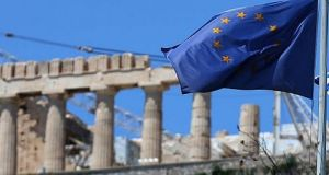 The left-wing Syriza government in Athens has eyed a return to the debt markets to underscore its economic rehabilitation. Photograph: Getty Images