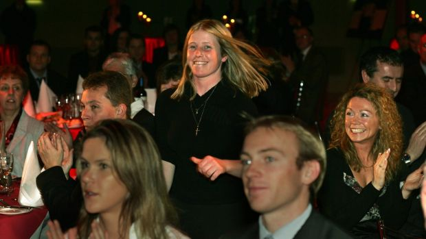 Cathy Gannon is named winner of the Irish Times Sportswoman of the Year in 2005. Photograph: Frank Miller
