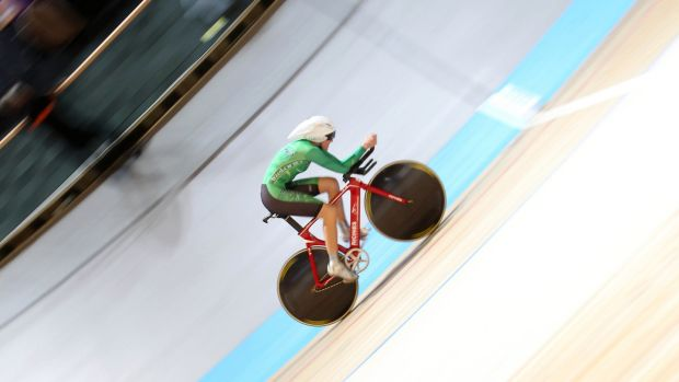 Caroline Ryan competing at the UCI Track World Championships in 2011. Photograph: Inpho