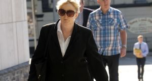 Eve Doherty, a Dublin-based garda, arrives at the Dublin Circuit Criminal Court. Photograph: Collins Courts