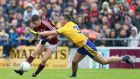 "Roscommon's John McManus tackles Galway's Shane Walsh during the Connacht final. ""I wouldn't have any fear of going out and playing Mayo.""  Photograph: Tommy Dickson/Inpho"
