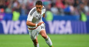 Javier Hernandez has completed an €18 million move from Bayer Laverkusen to West Ham. Photograph:  Yuri Cortez/AFP