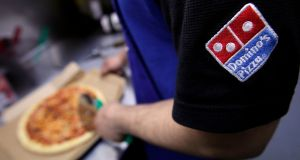 Domino's Pizza: the pizza delivery group says it plans to open another store in Ireland towards the end of the year, bringing the number of outlets here to 48. Photograph: Jason Alden/Bloomberg