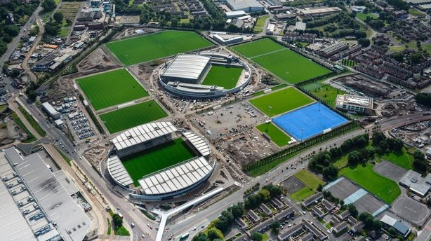 An aerial shot of Manchester City's new youth academy. Photo: Getty Images