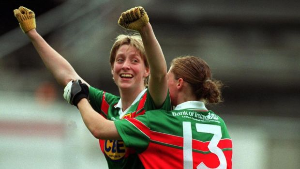 Cora Staunton at the end of the 2000 All-Ireland final. Photograph: Tom Honan/Inpho