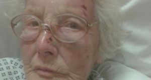 Eva Sutton had to leave her home of 54 years and has never returned. Photograph courtesy of RTÉ News