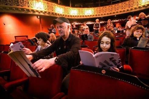 DUBLIN THEATRE FESTIVAL: Seán McGinley at the Gaiety Theatre during the announcement of the 60th anniversary programme of the Dublin Theatre Festival. The festival runs from September 28th to October 15th. Photograph: Cyril Byrne/The Irish Times