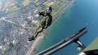Come fly with me: Irish Army's elite parachutists drop in on Bray strand