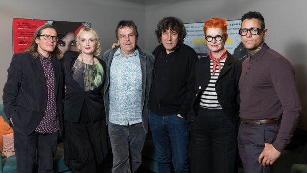 Producer Stephen Woolley, actor Miranda Richardson, director Neil Jordan, actor Stephen Rea, costume designer Sandy Powell and actor Jaye Davidson mark The Crying Game anniversary in London. Photograph: Tim P Whitby/Getty Images