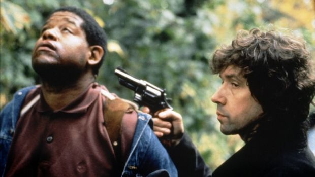 "Forest Whitaker and Stephen Rea in The Crying Game. ""At the time nobody wanted to back it,"" says writer-director Neil Jordan. ""It was about political violence and terrorism. And gender. The racial aspect was tricky as well."""