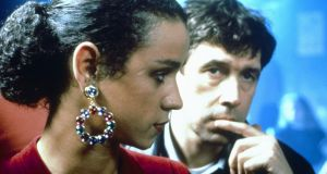 "Jaye Davidson and Stephen Rea in The Crying Game. ""It's amazing it happened at all,"" says Rea. ""When we made it, it was the only film in production in England or Ireland."""