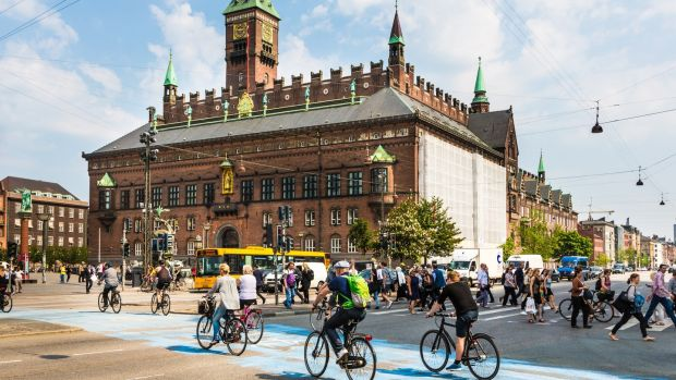 Cycling is the best way to get around Copenhagen. Photograph: Getty Images