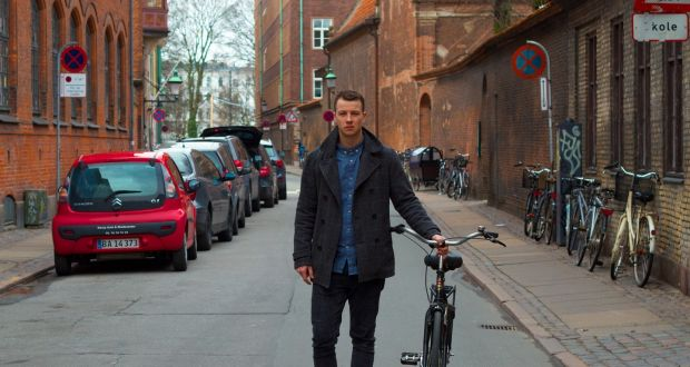 Cúán Greene in Copenhagen, where he works as a chef at Noma restaurant. Photograph:  Peter Walsh