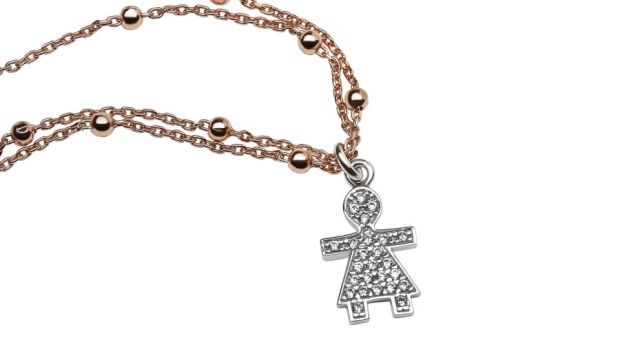 Charm bracelet with 'Boy' and 'Girl' charms from Lauryn Rose