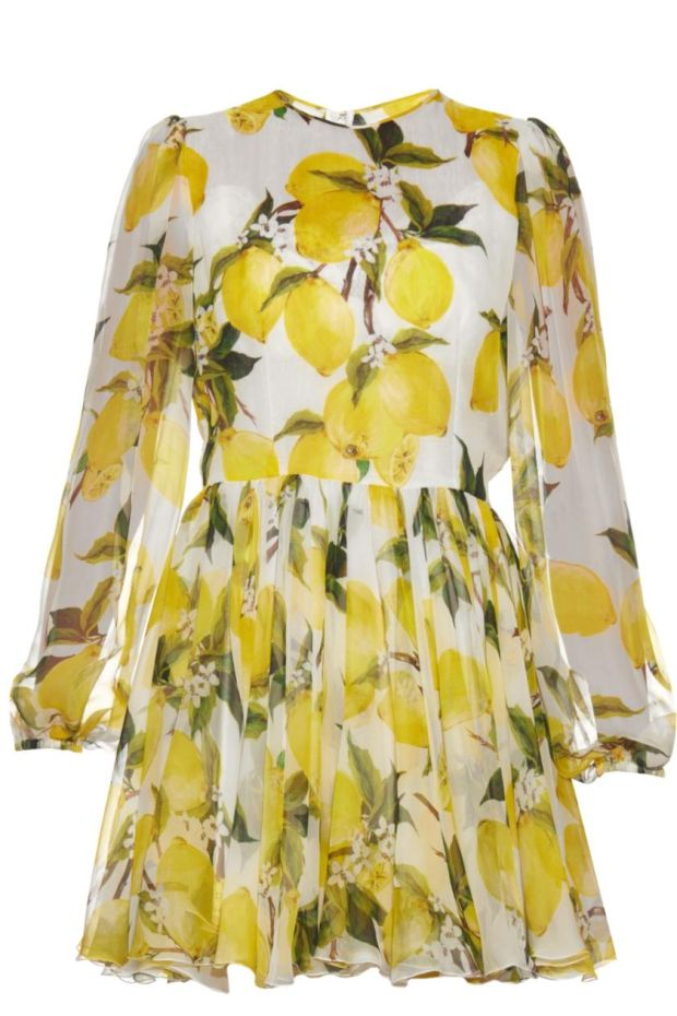Silk chiffon dress for €1,125 from Dolce and Gabbana