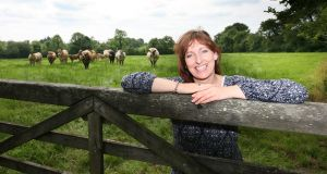 Aileen McGee from Donegal, whose son takes part in the Social Farming Programme. Photogragh:  Brian Farrell