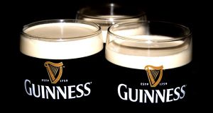 Guinness net sales were up 2 per cent in Ireland, driven primarily by sale of Hop House 13 lager.