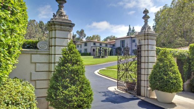 The 12,000-square-foot, 1936 Tuscan-style home was designed by architect Robert D. Farquhar. Photograph: Mercer Vine