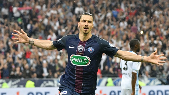 Zlatan Ibrahimovic inspired PSG to four consecutive league titles. Photograph: Christian Liewig/Getty
