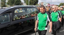 The funeral of Dermot Byrne takes place in Swords