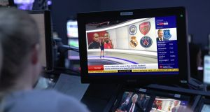 Sky reports a fall in full-year profits after it was stung by  increase in  cost of  live Premier League football. Photograph: PA