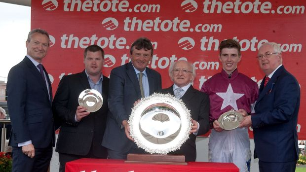 Presentation by President Michael D Higgins of the Galway Plate