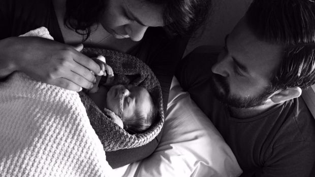 Tatiana Da Silva Souza and Tomás Fay with their daughter Lorena in August 2016. Photograph: Tom Fay