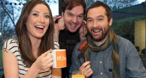 2fm's regular 'Breakfast Republic' presenters Jennifer Zamparelli, Bernard O'Shea and Keith Walsh.