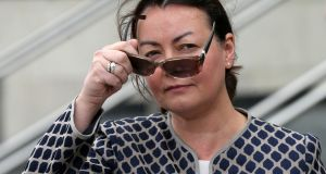 Businesswoman Deirdre Foley leaves the Court of Appeal in Dublin on Thursday. Photograph: Collins Courts