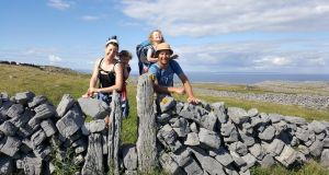 Jenny, Claire, Maeve and David O'Halloran on Inis Mór
